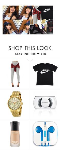 """""""Get High Baby ..."""" by your-loving-anons ❤ liked on Polyvore featuring NIKE, Michael Kors, MAC Cosmetics, PhunkeeTree and Retrò"""