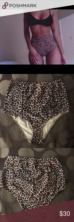 American Apparel Leopard High Waist Bikini Bottom New. American Apparel High Waist Swim Bikini Bottom. Size Medium. HTF! Not sold in stores or online anymore. #swim #bikini #swimsuit #highwaist #2piece #nike #yeezy #kylie #fashionnova #missguided #americanapparel #asos #mk American Apparel Swim Bikinis