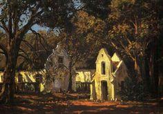 Cape Farmhouse, painting by Tinus de Jongh Story People, Artist Art, African Art, Gabriel, Art Photography, Sculptures, Farmhouse, Fine Art, Landscape