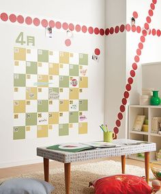 Giant washi tape wall callendar!施工例