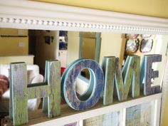 chipboard that spells home