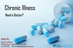 Chronic Illness. Need a Doctor?  Book your appointment with us by calling 9739 3837 or please visit http://www.medicalskincentre.com.au/  #chronicillness #doctor #medicine #disease #chronic #illness #MedicalSkinCentre #GP