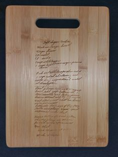 Custom engraved cutting board for Jacqueline from 3DCarving on Etsy