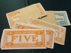 Rare Vintage SS Adams Co. Play Money Sets