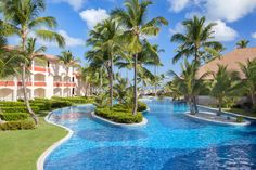 The swimming pool at Majestic Colonial Punta Cana, a family friendly all-inclusive resort in the Dominican Republic.