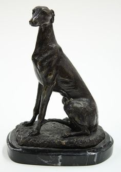 Bronze sculpture Sitting Greyhound [+ other pcs]
