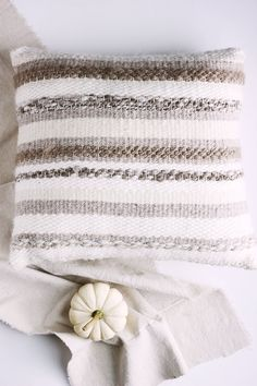 Woven Pillow, Cashmere Woven Pillow, Cozy Decorative Pillow, Minimalist Home Decor by MelodyFuloneFiberArt on Etsy