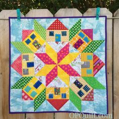 Mini House Quilt Finished! | OccasionalPiece--Quilt!