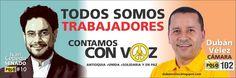 Todos somos trabajadores, ¡Contamos con Voz! Vamos por los Derechos Antioquia.