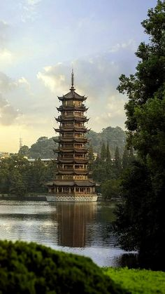 Pagoda in Guilin China Guilin, Beijing, Shanghai, Places To Travel, Places To See, Places Around The World, Around The Worlds, Beautiful World, Beautiful Places