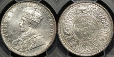 India 1917B Rupee #coins #indiancoins