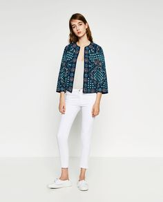 Image 1 of EMBROIDERED MIRROR JACKET from Zara