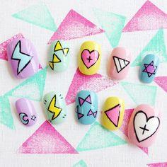 Pastel Graffiti Nails