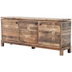 Cascade Rustic Natural Mixed Reclaimed Wood Sideboard - Style # 15A51