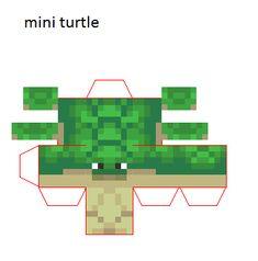 Papercraft Mini Turtle (1.13) Papercraft Minecraft Skin, Minecraft Mobs, Minecraft Crafts, Minecraft Templates, Minecraft Blueprints, Minecraft Designs, Mini Turtles, Minecraft Decorations, Cool Paper Crafts