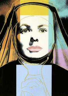 Andy Warhol, Ingrid Bergman - The Nun 1983 Silkscreen on Lenox Museum Board, 38 x 38 in x cm) Signed and numbered in pencil lower right. Edition of 250 Andy Warhol Museum, Andy Warhol Pop Art, Andy Warhol Portraits, Robert Rauschenberg, Roy Lichtenstein, Pittsburgh, Ingrid Bergman, Jasper Johns, Art Pop