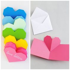 DIY Folded Valentine's Day Cards Tutorials and Templates...