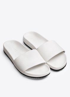 Gavin Leather Slide Sandal