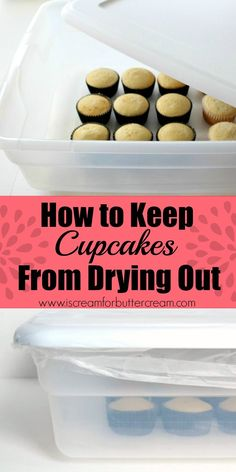 Cupcakes tend to dry out rather quickly, even quicker than cakes do. So, I've come up with a method to keep cupcakes from drying out that works great. via @KaraJaneB
