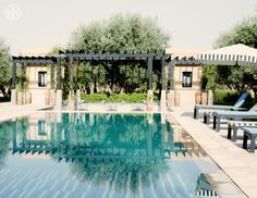 My pool at Peacock Pavilions, taken by Tory Burch's photographer Noa Griffel.