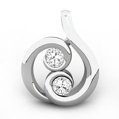 The Snail Diamond Pendant