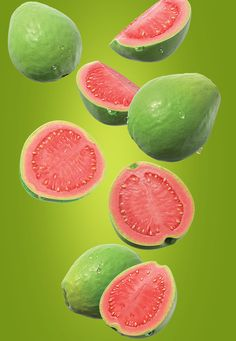 CGI Fruits for packaging- Mucua, Passion-fruit and Guava Guava Fruit, Watermelon Fruit, Fruit Splash, Food Cart Design, Green Tea Diet, Pineapple Wallpaper, Fruit Packaging, Fruits Images, Fruit Photography