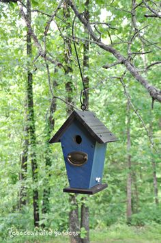 """Rustic Hanging Birdhouse ~ """"The Villa"""" by RebeccasBirdGardens on Etsy https://www.etsy.com/listing/280887790/rustic-hanging-birdhouse-the-villa"""