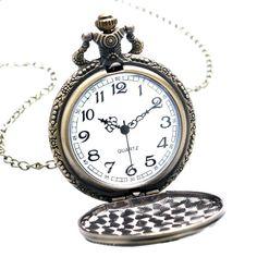 9773148ae Antique Bronze Fob Hodiny Peace Dove kapesní hodinky s náhrdelníkem řetězce  pro muže ženy Doprava zdarma