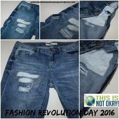 fashion revolution day 2016 [this is not okay!] - eine Naht entscheidet - Müll oder Lieblingsteil - Reparieren ist nachhaltig!
