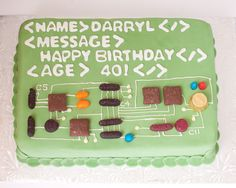 computer cake I totally want this for my birthday