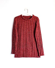 RED MÉLANGE SWEATER