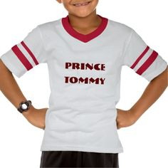 Prince Tommy 'change childs name' t shirts