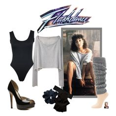 """""""DIY Flashdance Halloween Costume"""" by jessicaleila on Polyvore"""