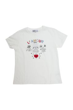 Love is hard. And honestly, even if you don't think so, this is a cool tee.  A great old school style shirt that is just the right amount of modern  meets vintage meets edgy. Pair with some vintage denim and your favorite  sneakers.By RARELY     * 100% Cotton     * Designed in Spain     * Made