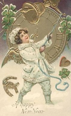 Ringing in the vintage New Year! #vintage #New_Years #card