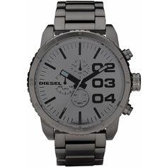 Diesel Franchise -51 DZ4215, Diesel Donkergrijze fashion chronograaf