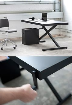 height adjustable touch sensitive display work stations, hundreds of these units in variations ranging from flat work surfaces to angular NX-01 style stations
