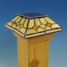 Serpentine Jade Solar Diamond Post Cap Light by Outdoor Essentials - 3-5/8 in