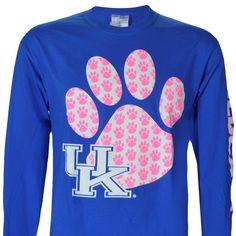 University of Kentucky Big Paw on Long Sleeve Shirt