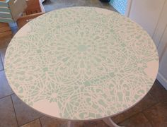 A Little Ikea Table Gets a Big Makeover - CES Stephanie's Lace Allover | Hometalk