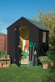 Somerset Green colour paint ideal for Garden Sheds, Planters, Garden Furniture and Bird Boxes Painted Garden Sheds, Painted Shed, Garden Front Of House, House Front, Hill Garden, Fence Garden, Garden Steps, Herbs Garden, Garden Planters