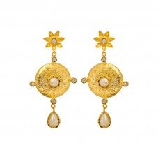 Beautiful Antique Designer Earrings With Pearls
