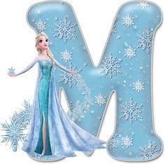 Alfabeto de Elsa con Vestido de Gala.                                                                                                                                                                                 Más Frozen Birthday Party, Frozen Tea Party, Birthday Party Themes, Bolo Frozen, Elsa Frozen, Disney Frozen, Frozen Cupcake Toppers, Frozen Font, Scrapbook Letters
