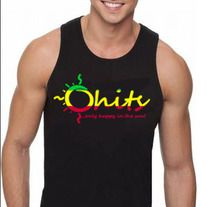 Black tank top with Rasta Ohits logo.  Light weight. On Sale Now! www.ohitsapparel.com