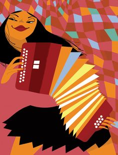 The New Yorker magazine. Portrait of Zydeco musician Rosie Ledet by Clayton Junior