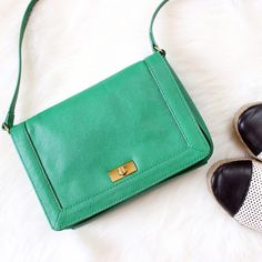 J. Crew • Green Tillary Crossbody Bag Great condition! Gently loved. Willing to take acceptable offers. Slight wear on the turnlock.   ❌No trades ❌No PayPal ❌No asking for the lowest price J. Crew Bags Crossbody Bags