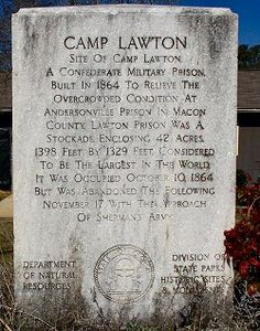 Camp Lawton, a Civil War POW Fort near Millen, GA.