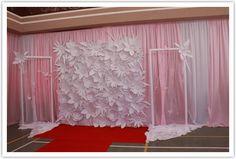 wedding backdrop ideas | The Inspired Bride › DIY Wedding Backdrop