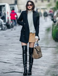 structured-coat-with-fisherman-sweater-and-over-the-knee-boots