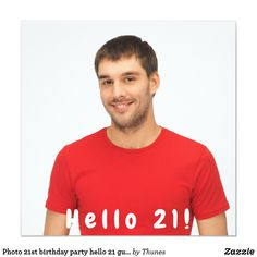 Shop Photo birthday party hello 21 guy black invitation created by Thunes. 21st Birthday Invitations, Zazzle Invitations, Personalized Note Cards, Guys, Party, Black, 18th, Design Ideas, Graphic Design